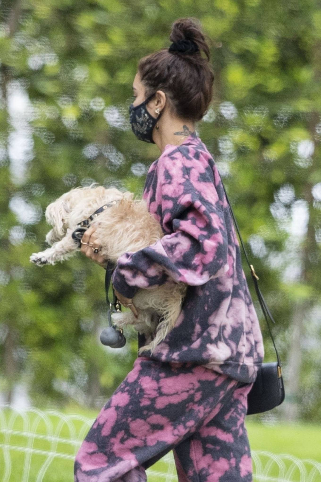 Vanessa Hudgens - Out with her Dog in Beverly Hills