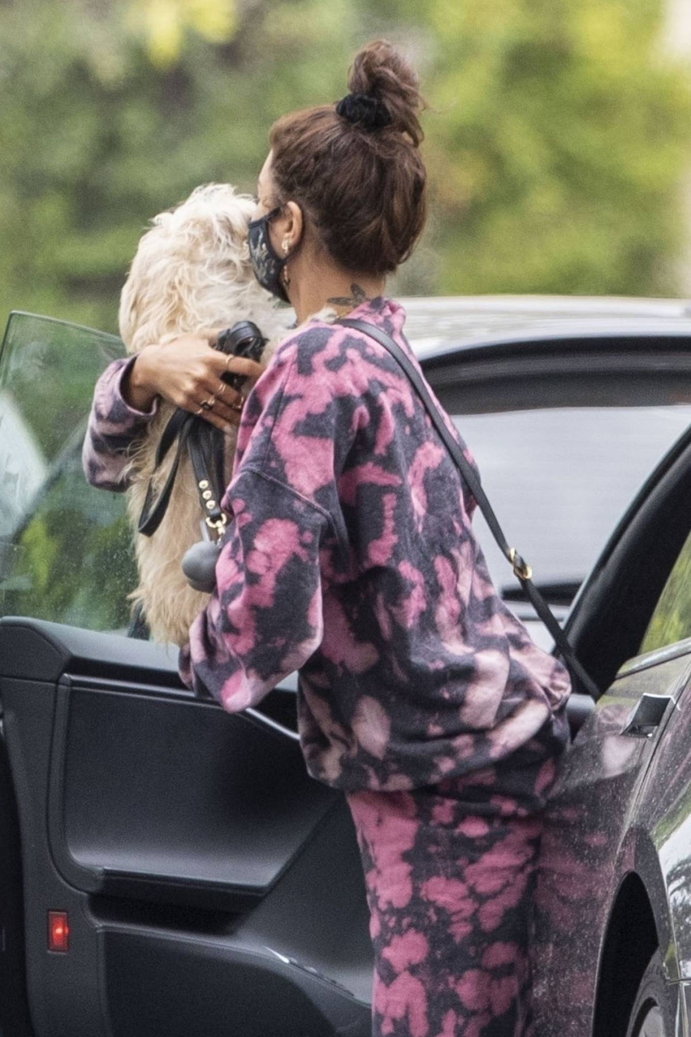 Vanessa Hudgens 2020 : Vanessa Hudgens – Out with her Dog in Beverly Hills -03