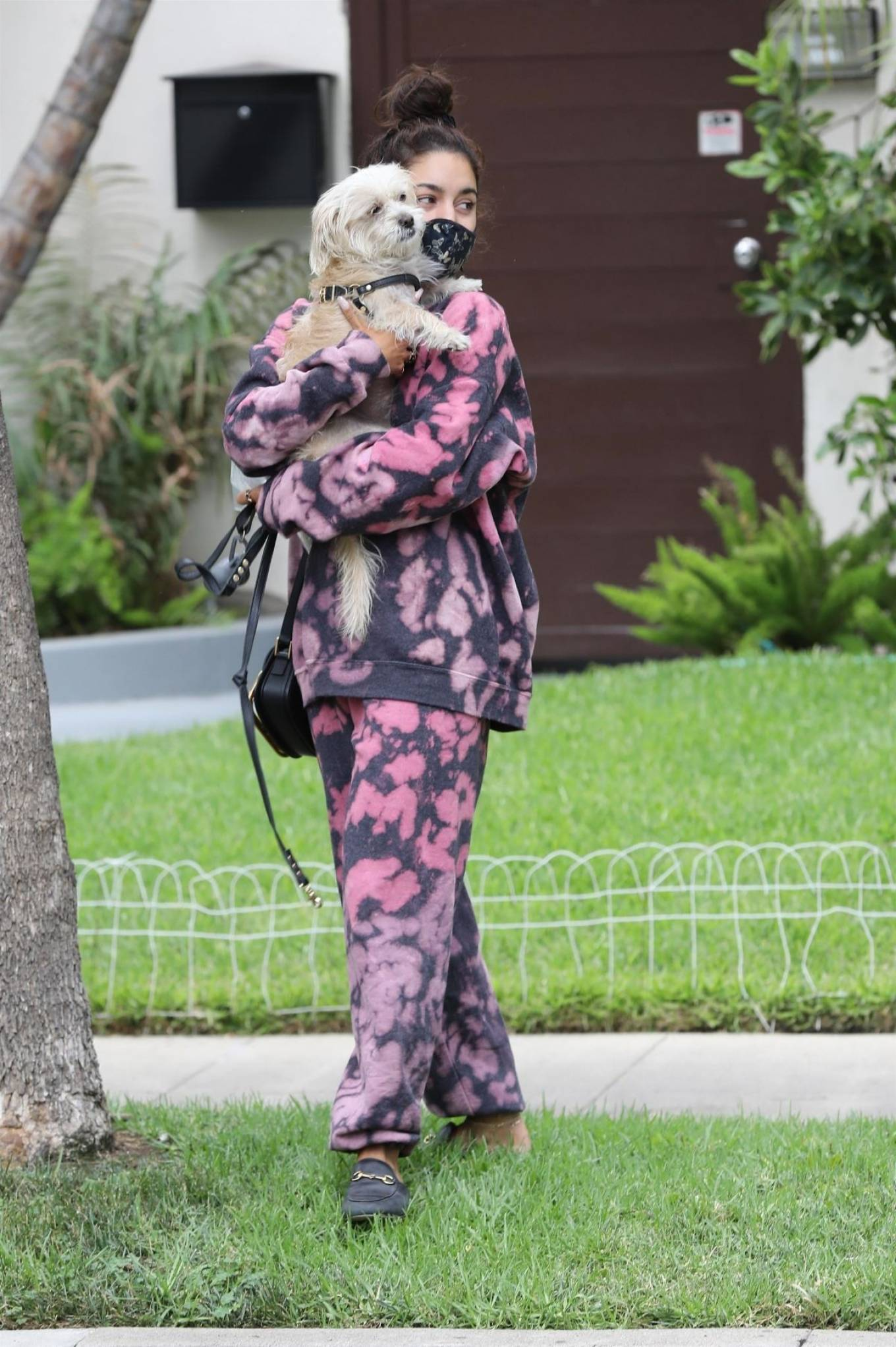 Vanessa Hudgens 2020 : Vanessa Hudgens – Out with her Dog in Beverly Hills -04