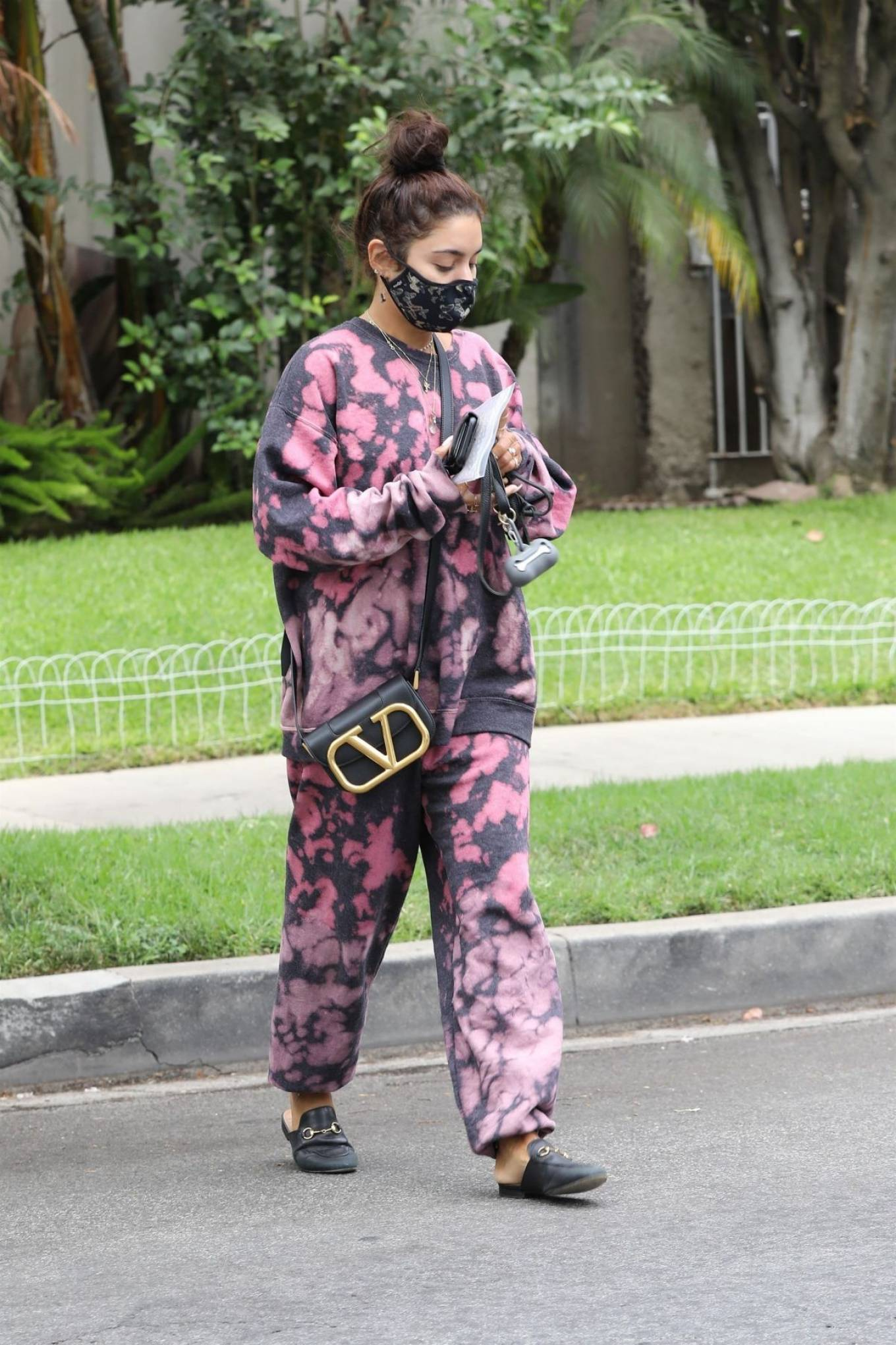 Vanessa Hudgens 2020 : Vanessa Hudgens – Out with her Dog in Beverly Hills -07