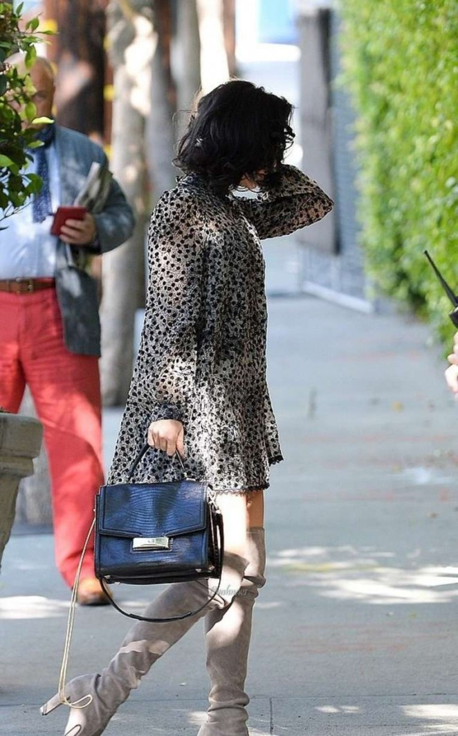 Vanessa Hudgens Outside Sunset Marquis Hotel in LA