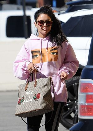 Vanessa Hudgens - Picks up her morning coffee in LA