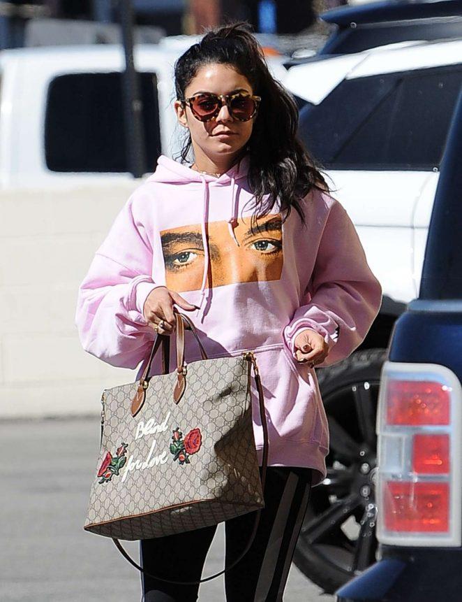 Vanessa Hudgens - Picks up her morning coffee in LA