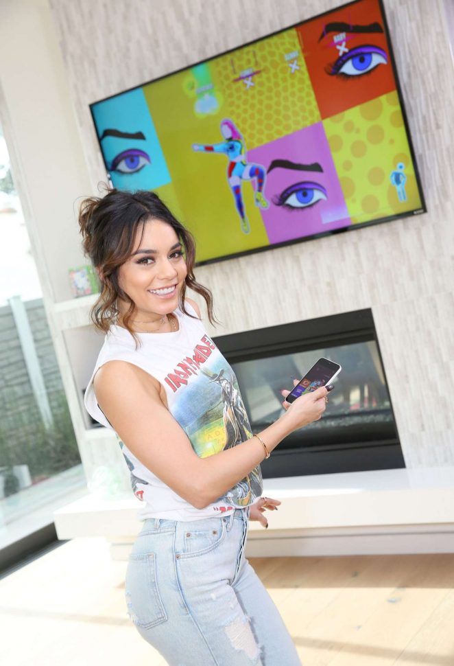 Vanessa Hudgens - Plays 'Just Dance 2017' during her Friendsgiving in LA