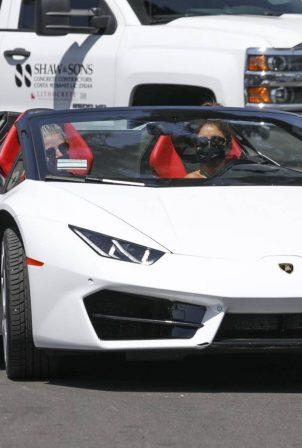Vanessa Hudgens - Ride her Lamborghini in West Hollywood