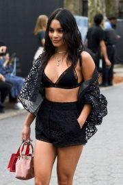 Vanessa Hudgens - Seen outside Carolina Herrera fashion show during NYFW 2019