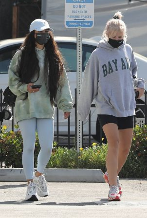 Vanessa Hudgens - Seen with GG Magree at the Dogpound Gym in Los Angeles