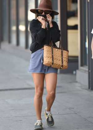Vanessa Hudgens shopping at Urban Outfitters in Los Angeles