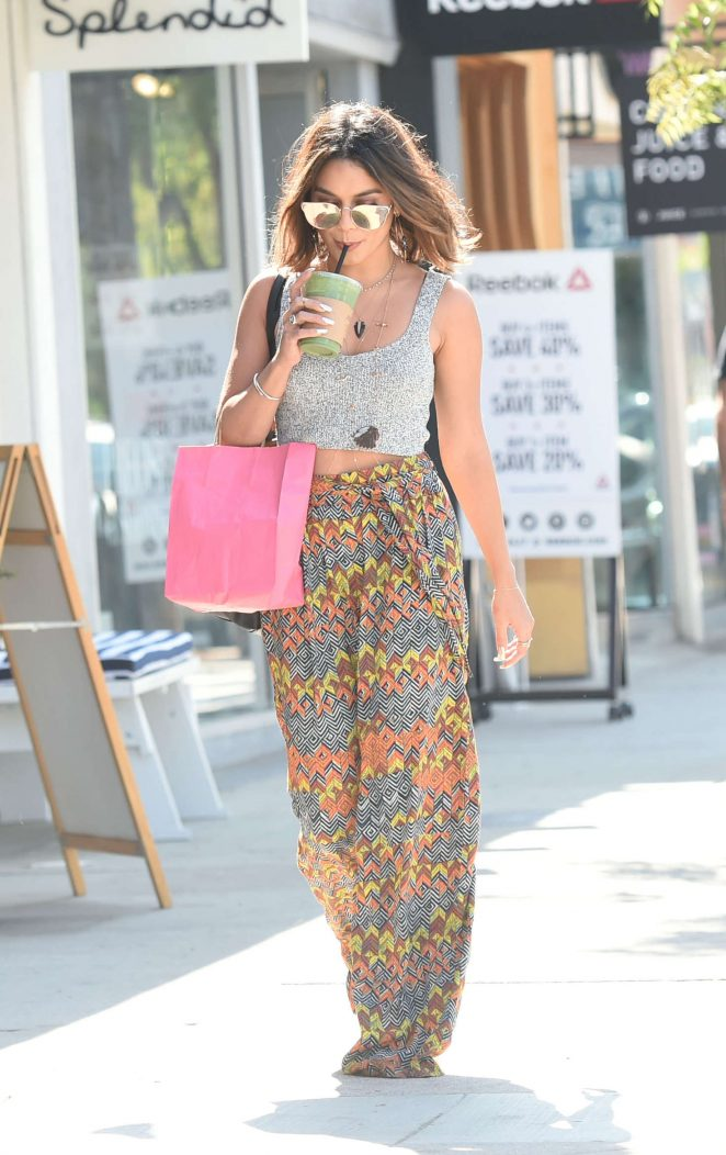 Vanessa Hudgens - Shopping on Ventura Blvd in Los Angeles