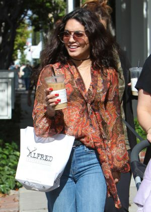 Vanessa Hudgens - Stopping at Alfred Coffee in West Hollywood