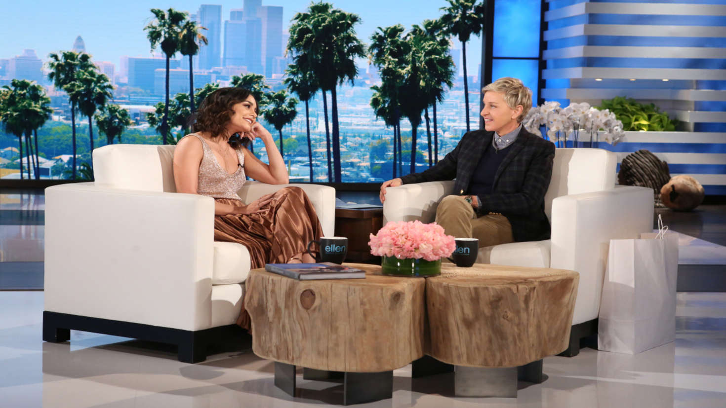 Vanessa hudgens the ellen degeneres show in burbank - Ellen show videos ...