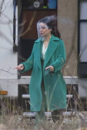 Vanessa Hudgens - The Princess Switch 3 on set filming in Scotland