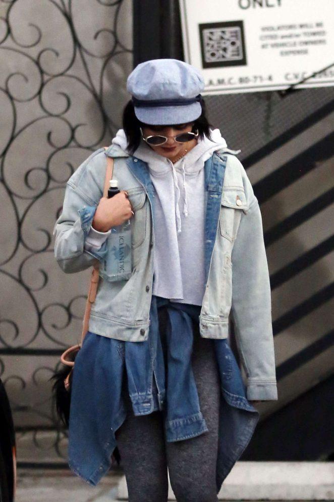 Vanessa Hudgens - Visit to Nine Zero One Salon in West Hollywood