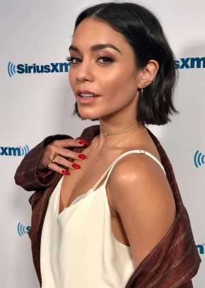 Vanessa Hudgens - Visits the SiriusXM Studios in New York City