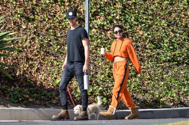 Vanessa Hudgens – Walking her dog Darla in Los Angeles