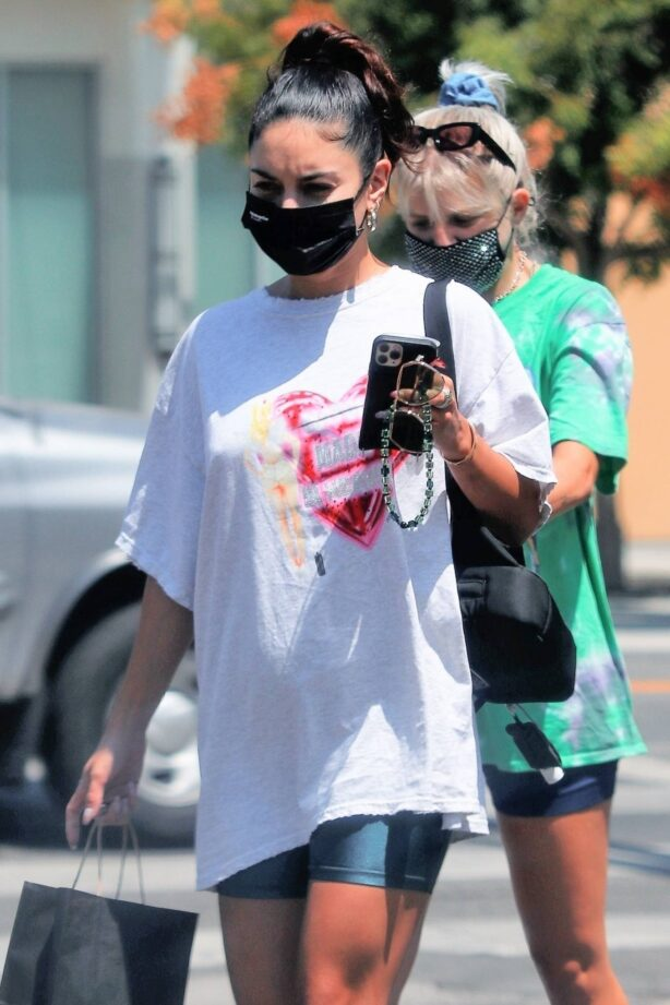 Vanessa Hudgens - With GG Magree seen after visiting a spa in Los Angeles