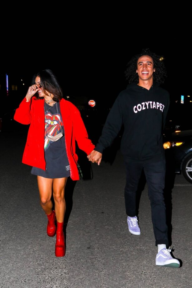 Vanessa Hudgens - With her boyfriend Cole Tucker at The Rolling Stones concert in Los Angeles