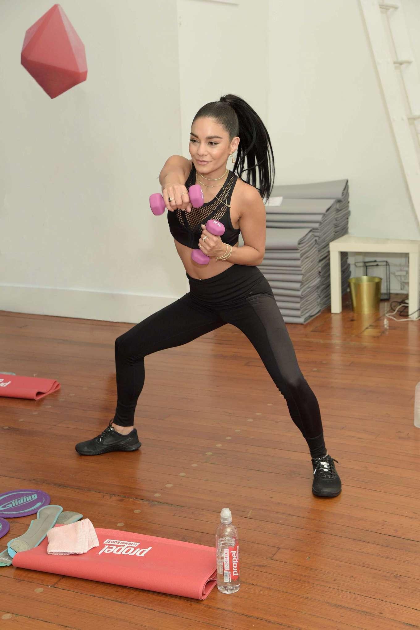 Vanessa Hudgens 2019 : Vanessa Hudgens: Works out with Propel Vitamin Boost -15