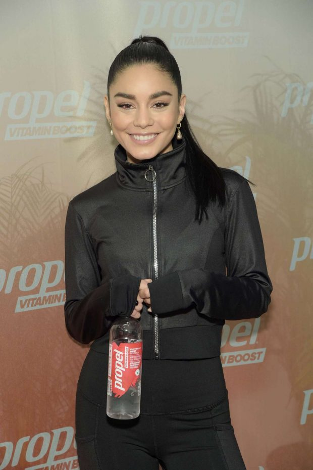 Vanessa Hudgens: Works out with Propel Vitamin Boost -18