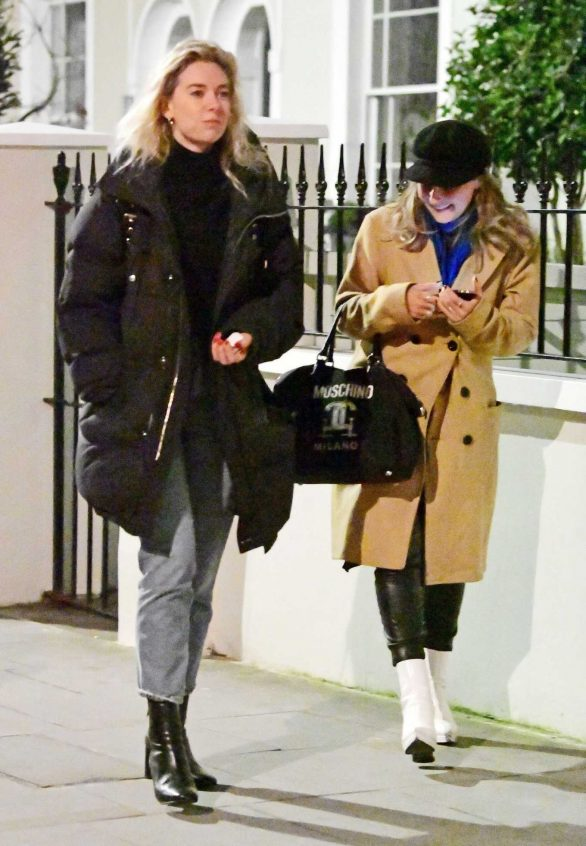 Vanessa Kirby - Girls night out at the Electric Cinema in Notting Hill