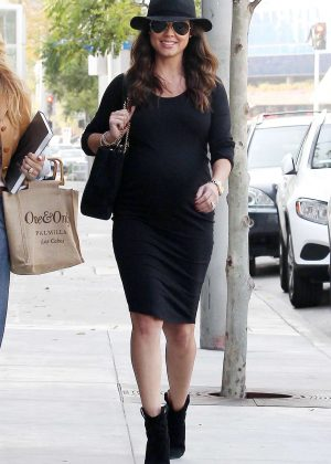 Vanessa Lachey in Black Dress out in Los Angeles
