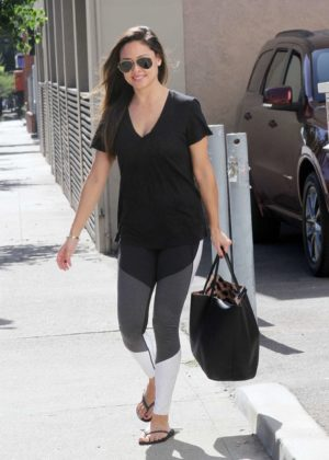 Vanessa Lachey in Tight Leggings out in Los Angeles
