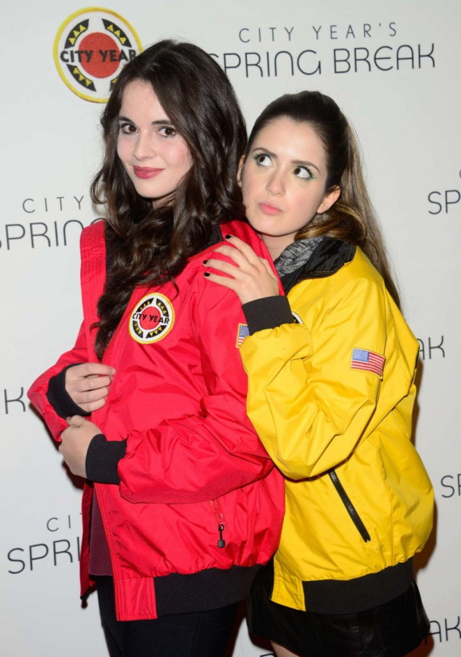 Vanessa & Laura Marano - City Year Los Angeles Spring Break in LA
