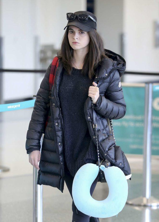 Vanessa Marano at LAX International Airport in Los Angeles