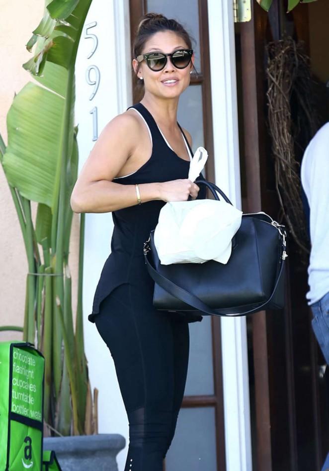 Vanessa Minnillo in Tights out in LA