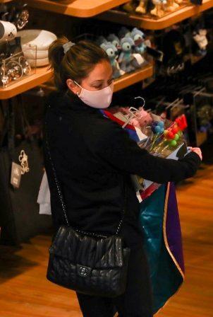 Vanessa Minnillo - Shopping at the Disney store in Los Angeles