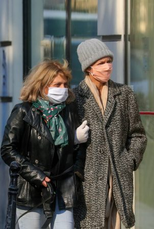 Vanessa Paradis and Corinne Paradis - Out for a stroll in Paris