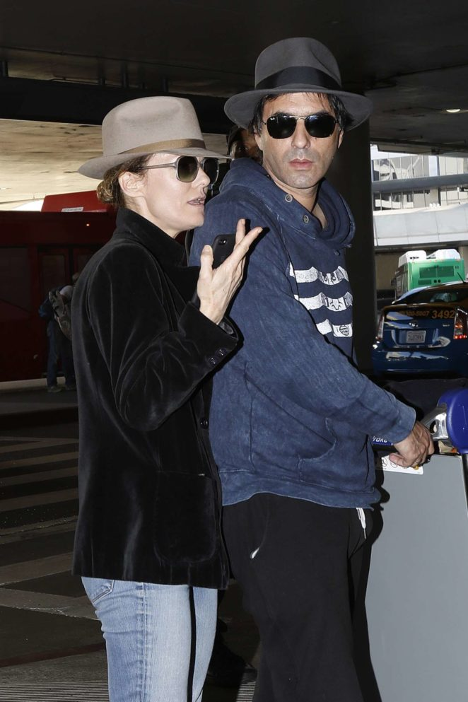 Vanessa Paradis and Samuel Benchetrit at LAX Airport in LA