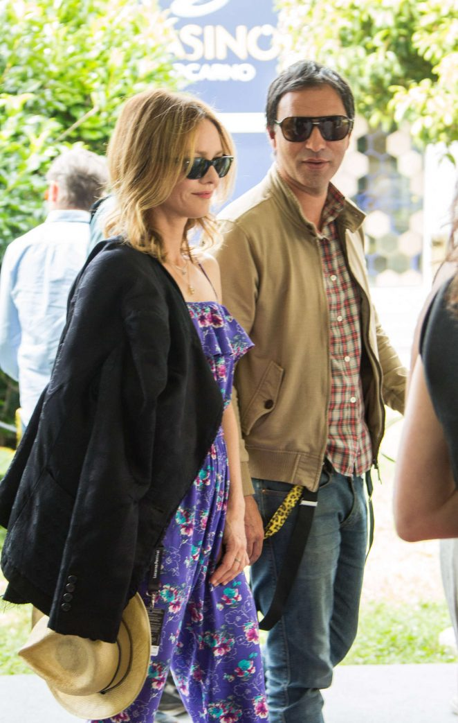 Vanessa Paradis and Samuel Benchetrit Leave 'Chien' Press Conference in Switzerland
