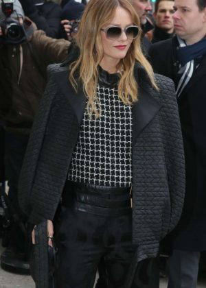 Vanessa Paradis - Arrives at the Chanel Fashion Show FW 2017 in Paris