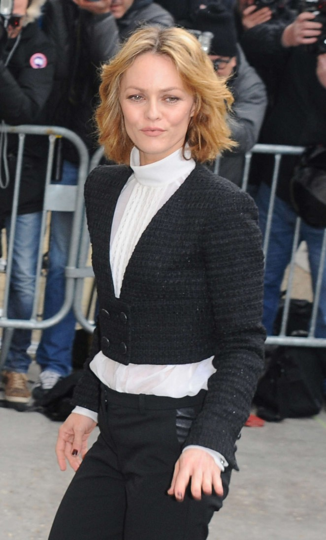Vanessa Paradis - Chanel 2015 Fashion Show in Paris