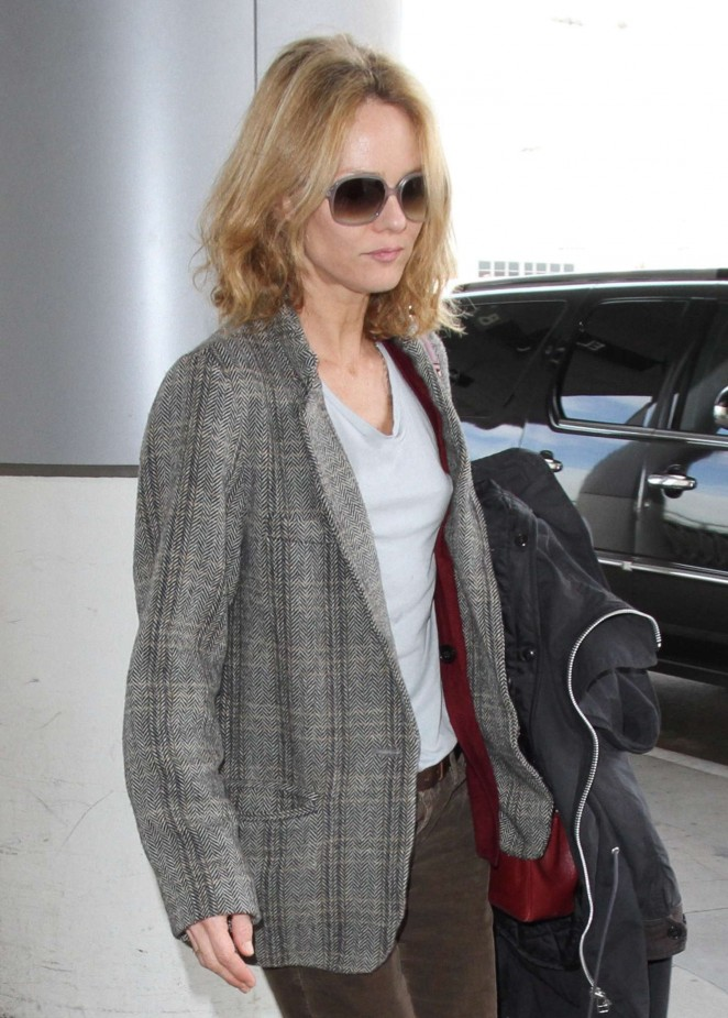 Vanessa Paradis - LAX Airport in Los Angeles