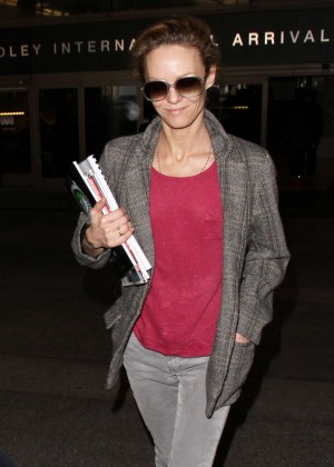 Vanessa Paradis - Seen at LAX Airport in Los Angeles