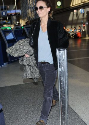 Vanessa Paradis - Seen at LAX airport in Los Angeles