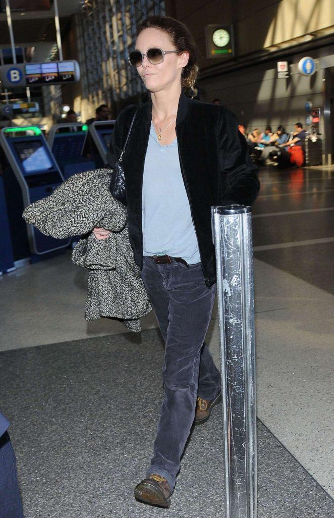 Vanessa Paradis – Seen at LAX airport in Los Angeles