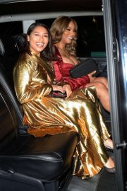 Vanessa White and Munroe Bergdorf - Leaving Pat McGrath Party in London