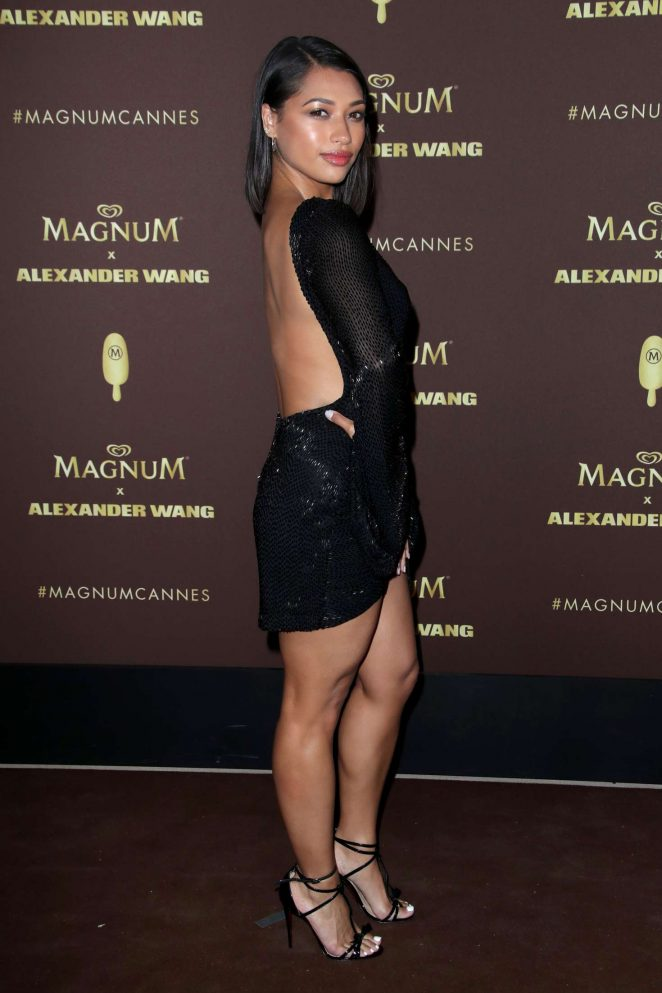 3611f3bb27c Vanessa White  Magnum x Alexander Wang Party at 2018 Cannes -01 ...