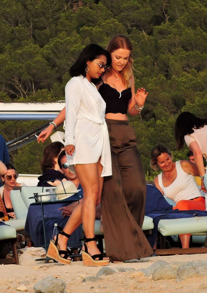 Vanessa White on the Beach in Ibiza