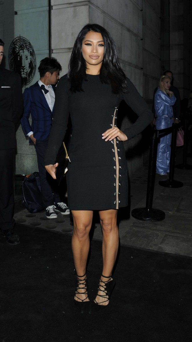 Vanessa White - Versus By Versace Fashion Show in London