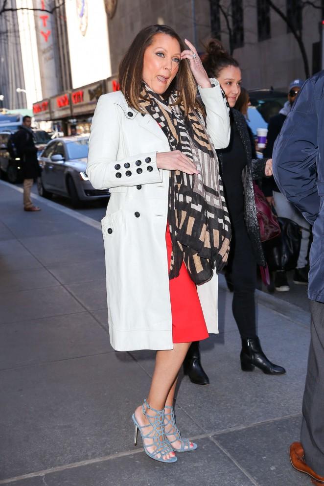 Vanessa Williams Leaving the NBC studios in New York City