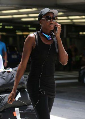 Venus Williams at International Airport in Florida