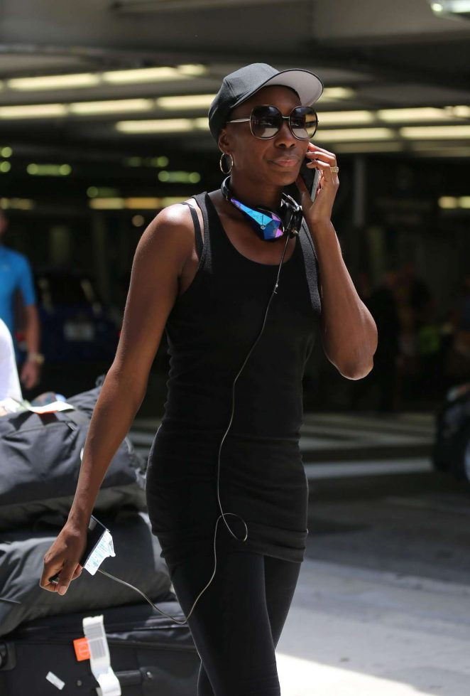 Venus Williams at International Airport in Florida
