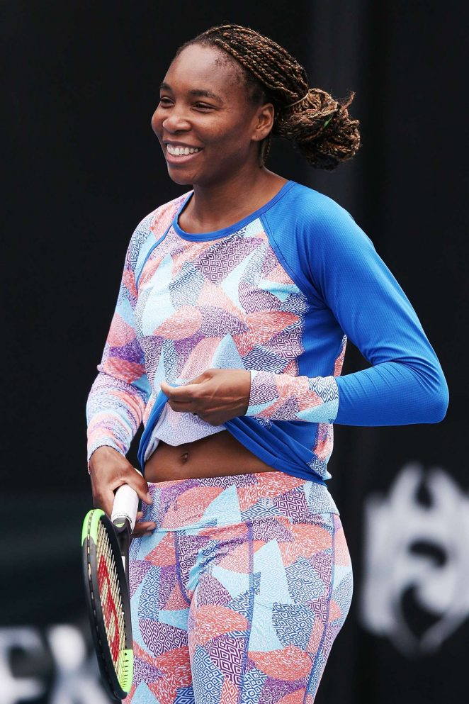 Venus Williams – Practice Session at the Australian Open 2018 in Melbourne