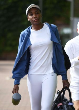 Venus Williams - Spotted in All England Tennis Club Wimbledon