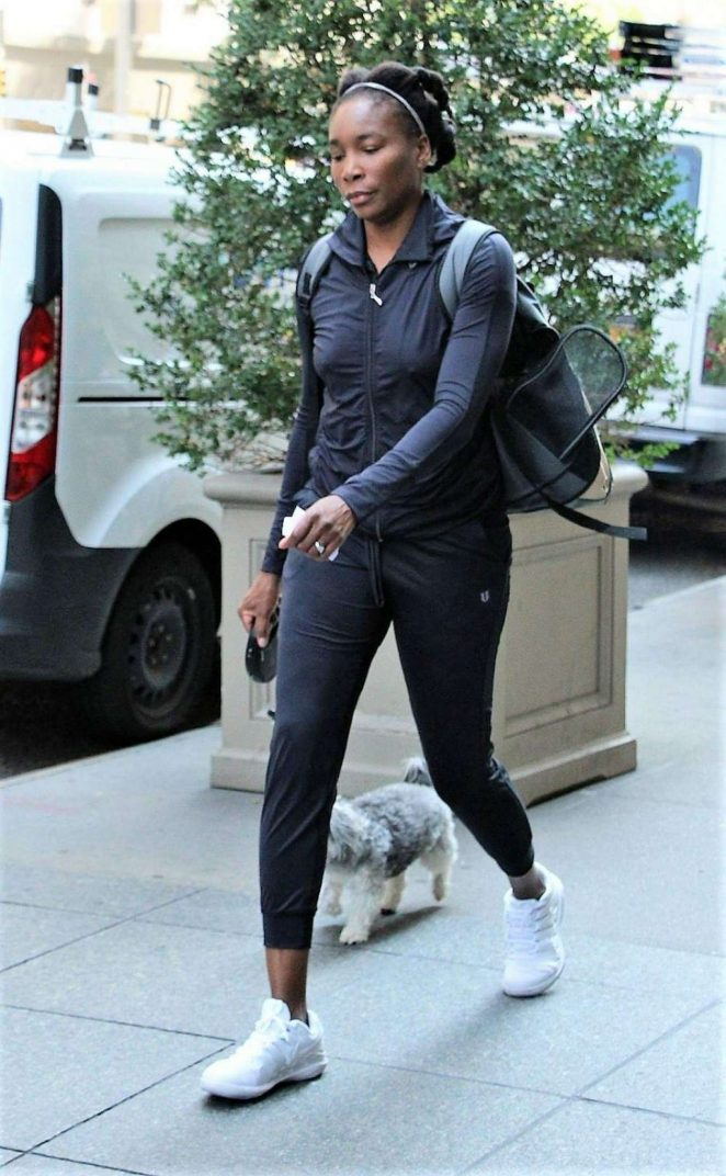 Venus Williams – Walking her dog in New York City