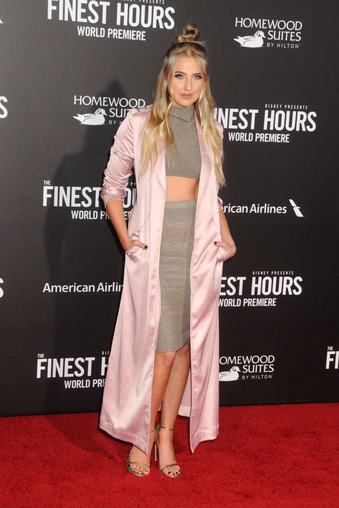 Veronica Dunne – 'The Finest Hours' Premiere in Los Angeles